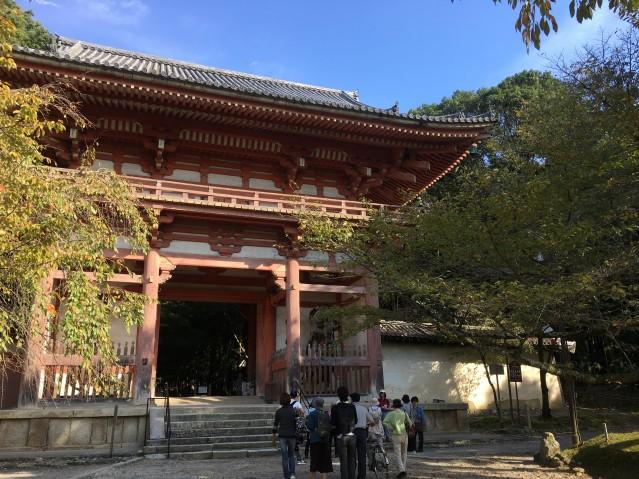 醍醐寺を訪れた「まち歩きツアー」の参加者たち