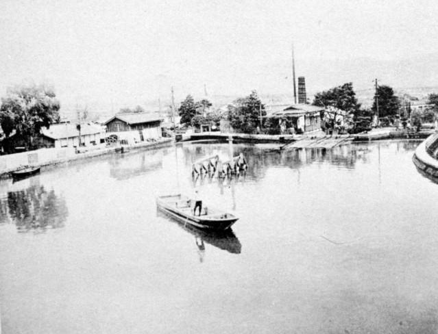 昭和初期の伏見インクラインの写真(個人蔵書籍より)