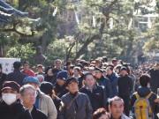 京都・伏見の御香宮神社 初詣参拝客で賑わう 伏見の5社寺で「伏見五福めぐり」も