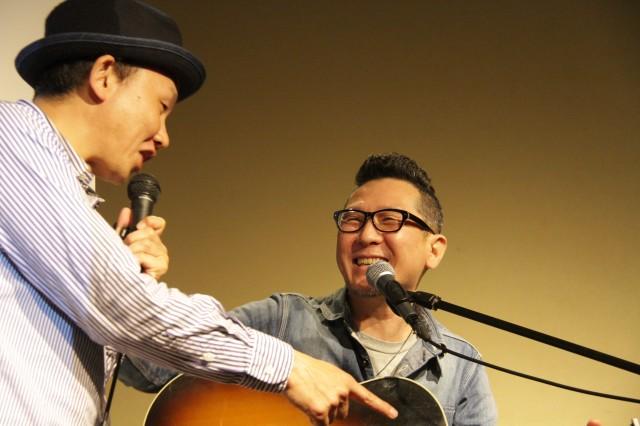 講師の大土井裕二さん(右)とこうのきよしさん(写真提供:佐藤康男さん)