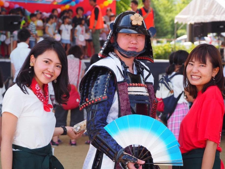 笑顔の乙訓DREAMフェスタの参加者たち