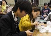 京田辺で「玉露のうまい淹れ方コンテスト府予選」 50人が腕を競い合う