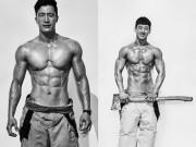 韓国の「筋肉自慢」消防士、上半身裸で肉体アピール 毎年恒例カレンダー販売へ