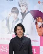 小栗旬さん来韓、実写版「銀魂」公開PR 「韓国映画に出たい」アピールも