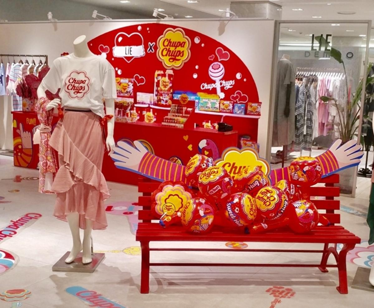 韓国ブランド「ライ」ポップアップストア チュッパチャップスとのコラボ品販売