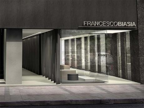 ©Studio Parisotto & Formenton, Studio Costanzi 「フランチェスコ・ビアジア」日本初のフラッグシップショップ外観イメージ図。
