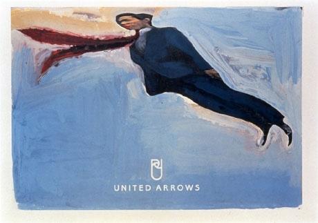 1997年から葛西さんが手がけている「ユナイテッド・アローズ」のポスター。同作は1998年のもの。