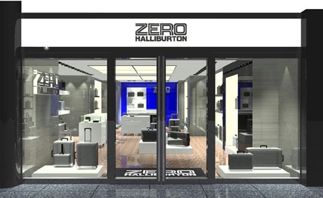 来年2月1日にオープンする世界初の旗艦店「ZERO HALLIBURTON 銀座店」外観の様子。