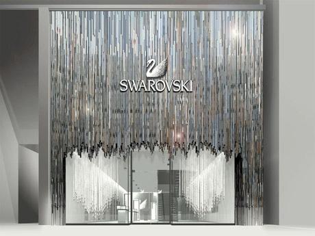 3月29日にオープンする世界初となる旗艦店「スワロフスキー 銀座」の外観イメージ。