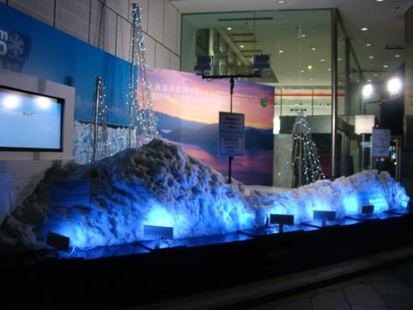昨年開催された「Snow Dream HOKKAIDO」に出現した約8トンの雪で作った「雪のステージ」のようす
