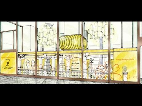 トゥイーティーのカラーでおなじみの黄色を基調とした店内の外観イメージ