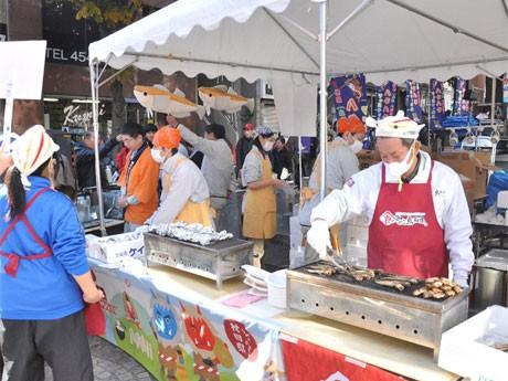 昨年麻布十番商店街で開催した「ハタハタフェスティバル」での会場風景