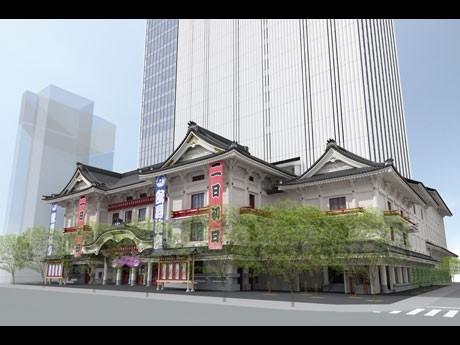 来年4月に開業を控える歌舞伎座の外観イメージ