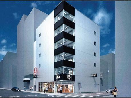 来年2月1日にオープンする銀座・伊東屋(仮店舗)外観イメージ