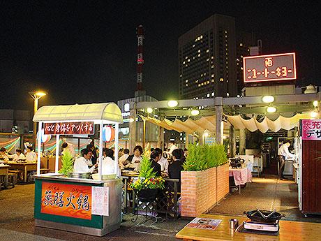 「ニユートーキヨー本店屋上ジンギスカンビヤガーデン」の会場風景