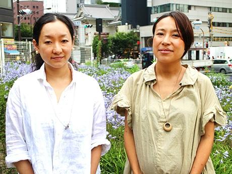 ドキュメンタリー映画「Tsukiji Wonderland(仮題)」の企画を立ち上げた手島麻依子さんと奥田一葉さん