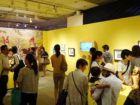 「くまのプーさん展 WINNIE THE POOH EXHIBITION」の初日会場風景