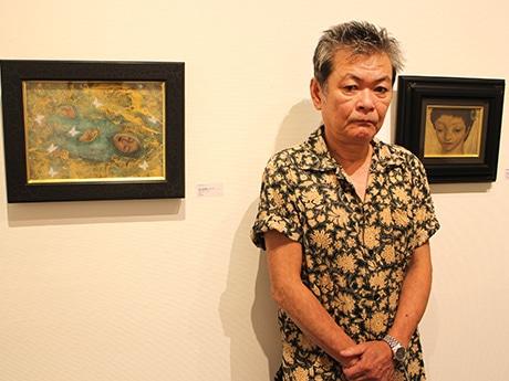 恒松正敏さん-個展「不機嫌な一角獣」の会場で