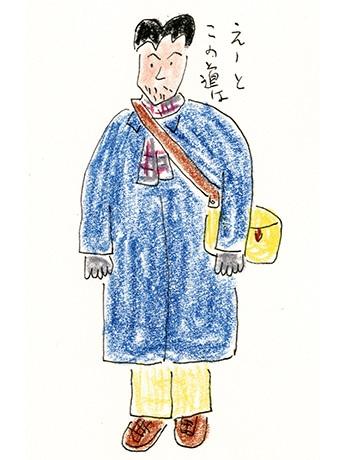 安西水丸さんのイラストレーション「たびたびの旅」原画1998年-「クリエイションギャラリーG8」で始まった「安西水丸展」