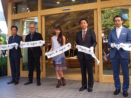 「松屋銀座マロニエ通り館」オープニングセレモニーの様子