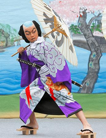 過去の「新富座こども歌舞伎」で上演された「白浪五人男」
