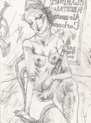 銀座で「無頼の銅版画家」西村宣造さん追悼展 「女道化師」作品など25点