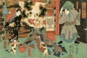 銀座で「猫れくしょん」 猫が描かれた浮世絵や掛け軸20点