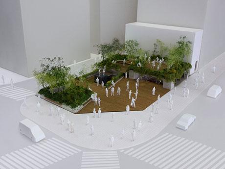 「銀座ソニーパーク」のイメージ模型