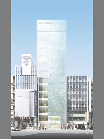 「ミキモト銀座4丁目本店」の完成予想図