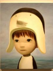 京橋のギャラリー椿で山本麻友香さん個展 子どもを描いた15点