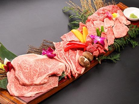 「俺の焼肉 銀座4丁目」で提供する「松坂牛特選盛り合せ1キログラム」