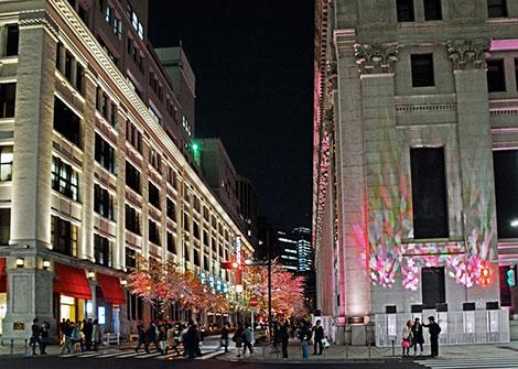 昨年の中央区長賞「桜色の街」(写真提供:一般社団法人中央区観光協会)