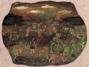 銀座で林千絵さん個展「夜の水たまり」 水彩画で開く新境地