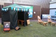 松屋銀座でフィンランドフェア 本場のまき式ストーブ型テントサウナも展示