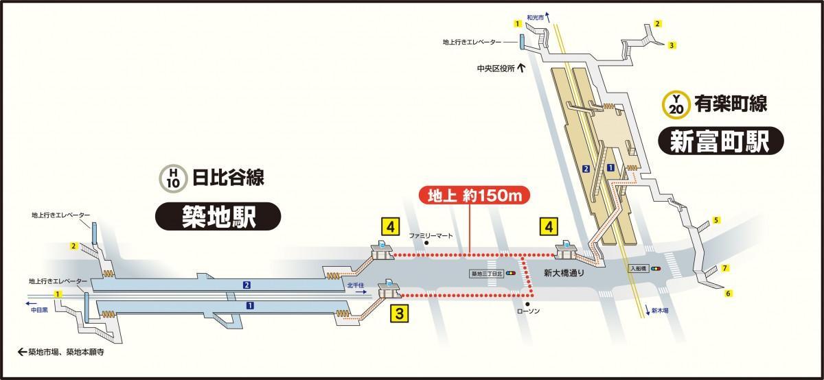 築地駅~新富町駅