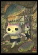 銀座で「ねこぢる・山野一・ねこぢるy展」 絵画の販売や漫画原画展示