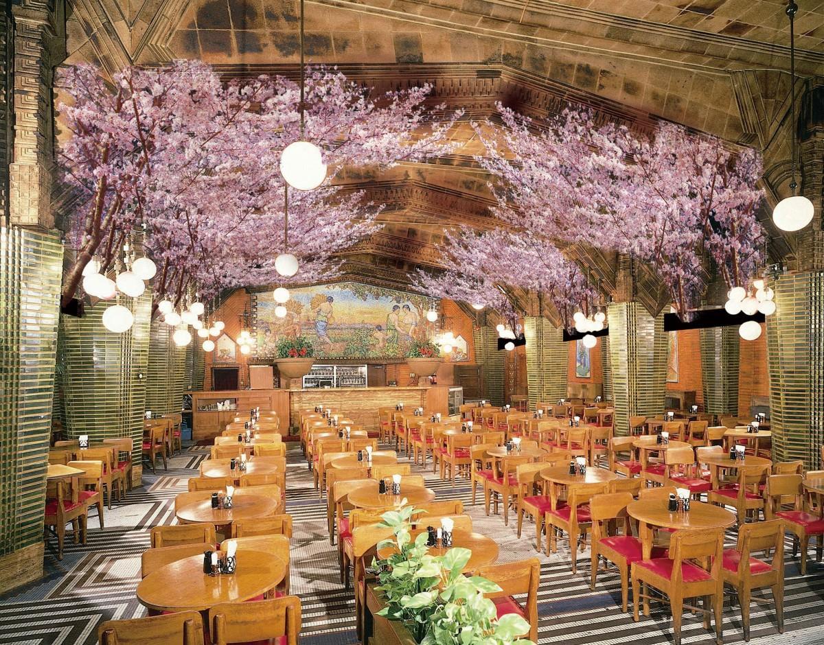「ビヤホールライオン 銀座七丁目店」の「お花見ビヤホール」のイメージ