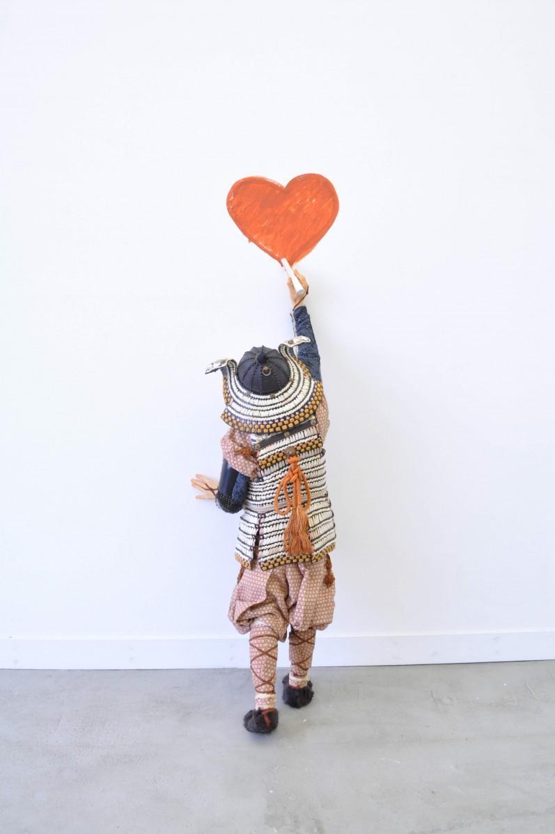 「Clumsy heart」 技法:ミクストメディア 2018年