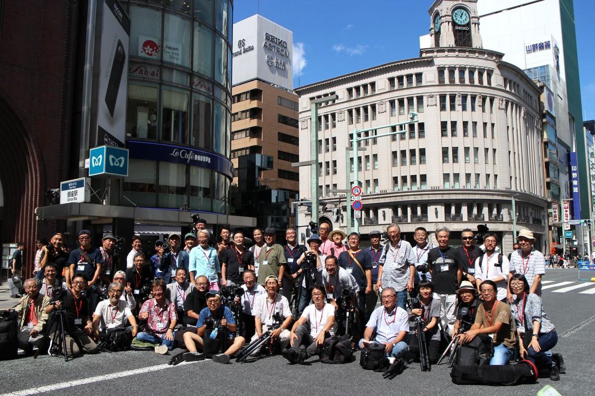 「銀座ジャック 再び!」に集まった日本建築写真家協会員