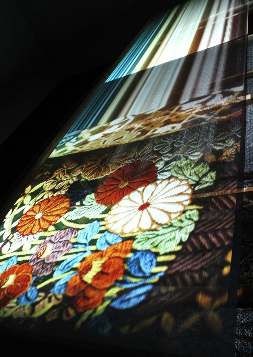 「THE STORY OF JAPANESE TEXTILES 『日本の美しい布』」の展示風景