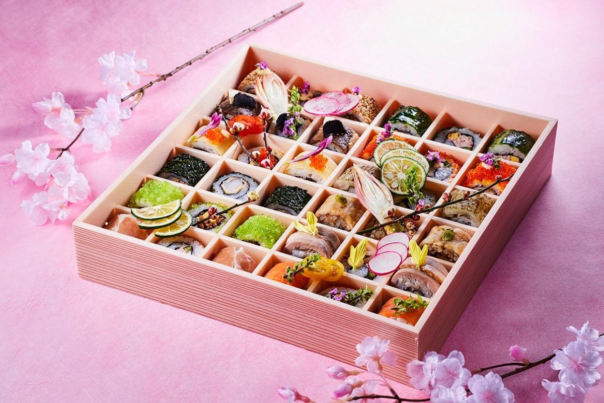 「SHARI特製春のお花見ロール寿司」