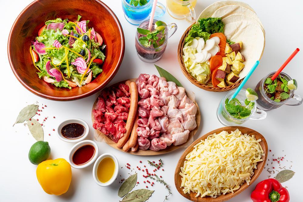 「美しくなるビアガーデン」で提供するフード、ドリンク(イメージ)
