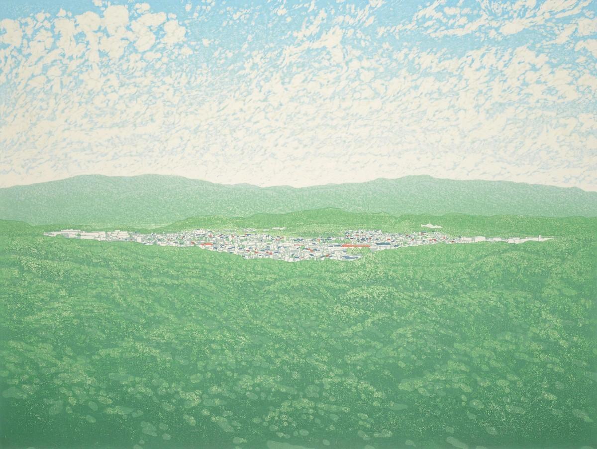 中村美穂さんの作品「青い風に吹かれて」