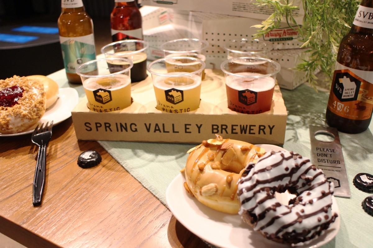 「Doughnuts×Craft Beer」フェアで提供するドーナツとクラフトビール