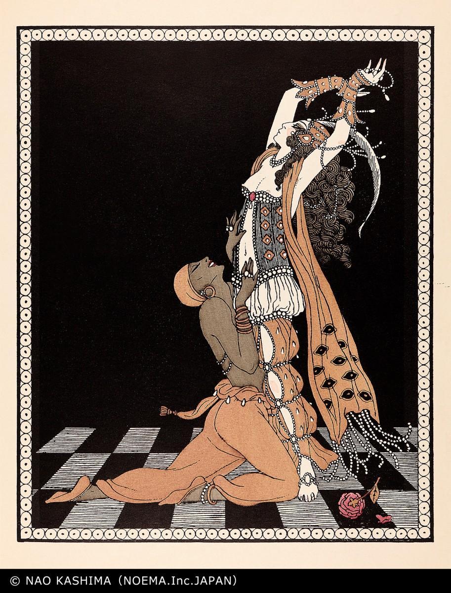 ジョルジュ・バルビエ 「ヴァーツラフ・ニジンスキーのダンスを描いたジョルジュ・バルビエのデッサン」より「シェエラザード」 1913年