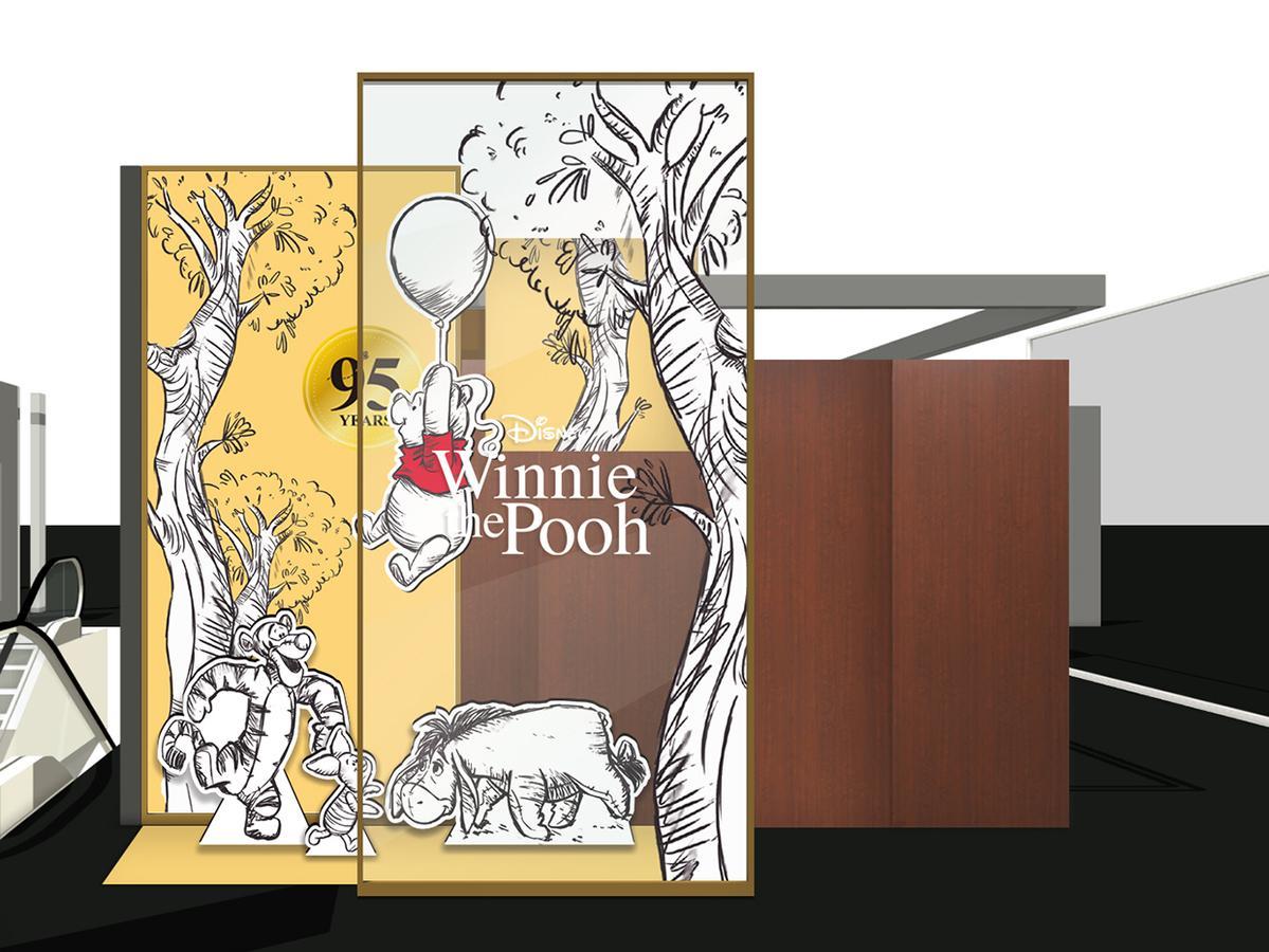 """銀座三越限定で設置するフォトスポット(イメージ)mc. ©DISNEY. Based on the """"Winnie the Pooh""""works by A.A. MiIne and E.H Shepard."""