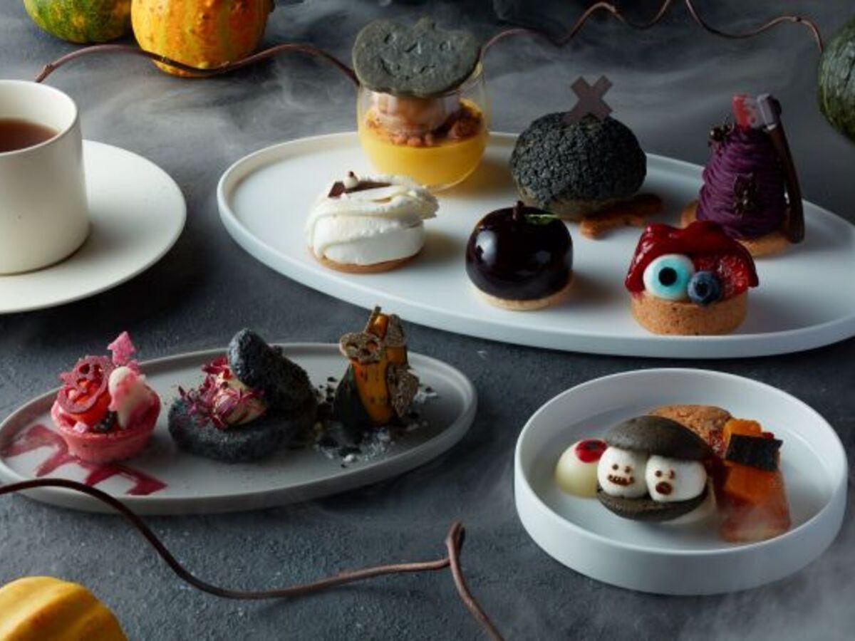 6種のスイーツなどがセットになった「Halloween Afternoon Tea」