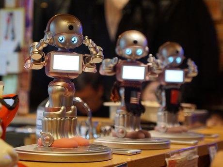屋台村「みろく横丁」が導入したおもてなしロボット