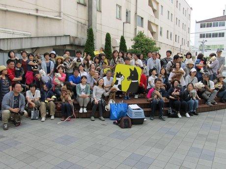 アプリ「ドコノコ」オフ会の記念写真
