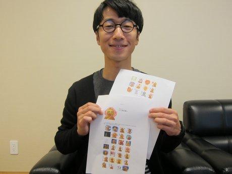 八戸で学生が国宝「合掌土偶」のLINEスタンプ開発 すべての表情で合掌崩さず